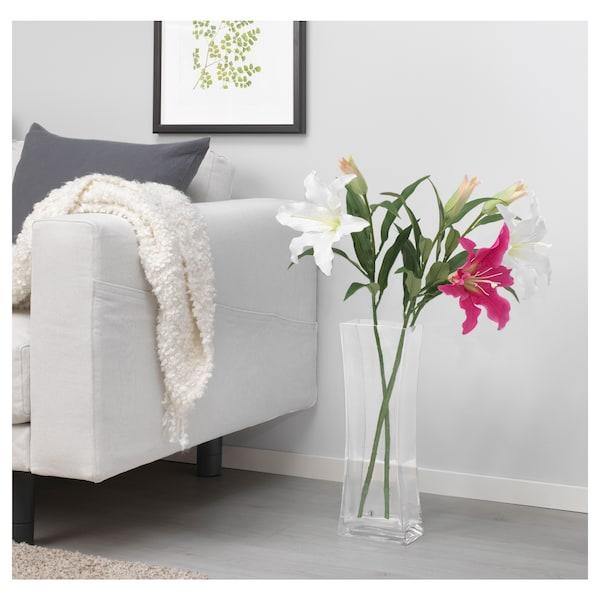 SMYCKA tekokukka lilja/valkoinen 85 cm