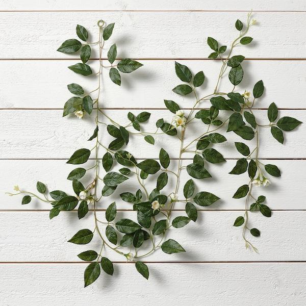 SMYCKA Tekoköynnös, sisä-/ulkokäyttöön Ruusu/valkoinen, 1.5 m