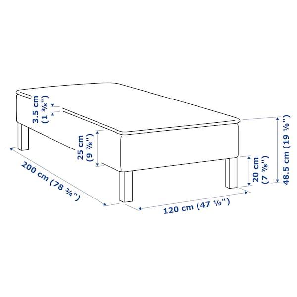 SNARUM Patja + sijauspatja, puolikiinteä/Talgje, 120x200 cm