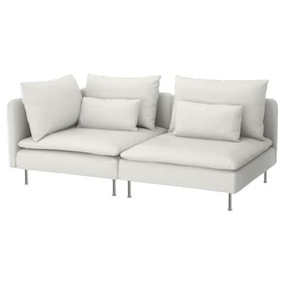 SÖDERHAMN 3:n istuttava sohva, pääty auki/Finnsta valkoinen