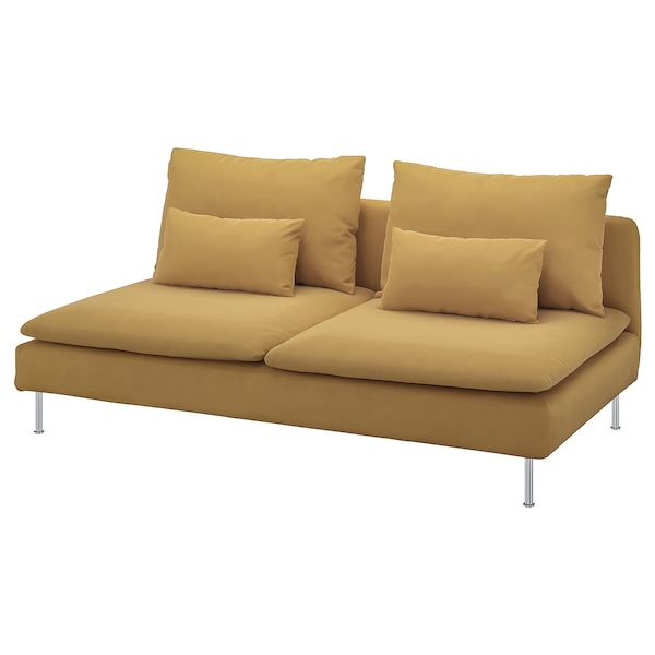 SÖDERHAMN 3:n istuttava sohva Samsta tummankeltainen 186 cm 99 cm 83 cm 186 cm 48 cm 40 cm