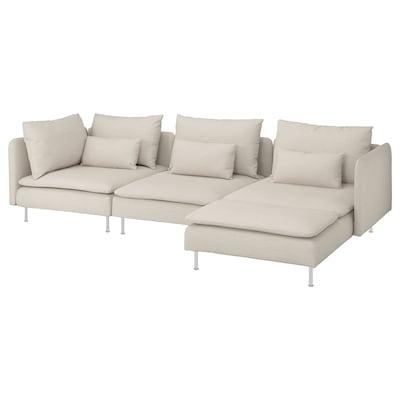 SÖDERHAMN 4:n istuttava sohva, divaanilla/Gunnared beige
