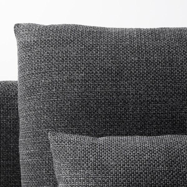 SÖDERHAMN 4:n istuttava sohva, divaanin kanssa/Lejde harmaa/musta