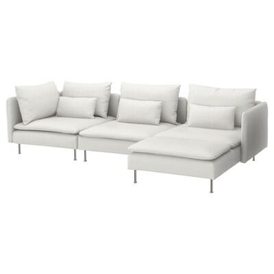 SÖDERHAMN 4:n istuttava sohva divaanin kanssa/Finnsta valkoinen 83 cm 69 cm 151 cm 291 cm 99 cm 122 cm 14 cm 70 cm 39 cm