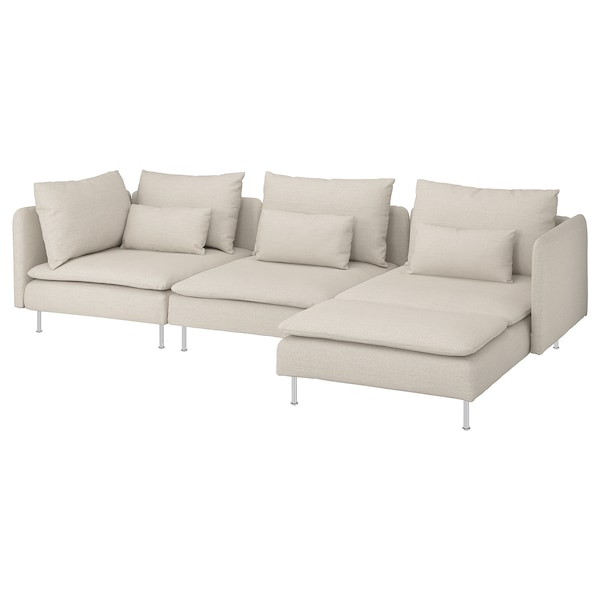 SÖDERHAMN 4:n istuttava sohva divaanin kanssa, Gunnared