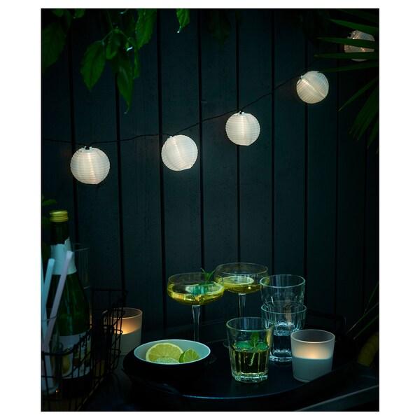SOLARVET Led-valosarja, 24 lamppua, ulkokäyttöön aurinkokenno/pallo valkoinen
