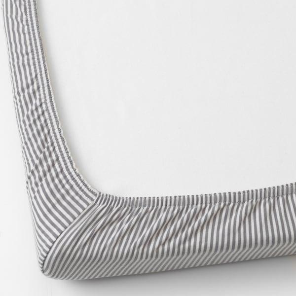 SOLGUL Muotoonommeltu lakana/kehto, pallokuvio/raidallinen, 50x81 cm