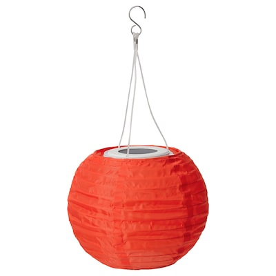 SOLVINDEN Led-kattovalaisin, aurinkovoima, ulkokäyttöön/pallo oranssi, 22 cm