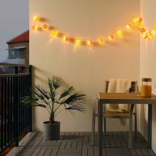 SOLVINDEN led-valosarja, 24 lamppua ulkokäyttöön aurinkokenno/pallo monivärinen 3.0 m 6 luumen(ia) 19 cm 4.0 m 0.1 W 7.0 m