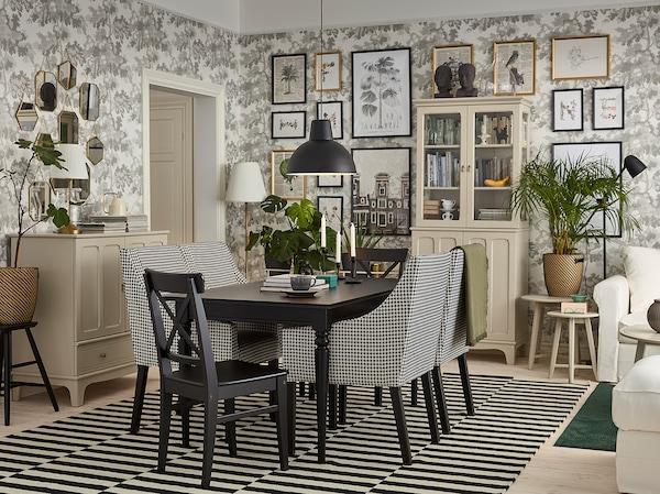 STOCKHOLM 2017 Matto, kudottu, käsin tehty/raidallinen harmaa, 250x350 cm