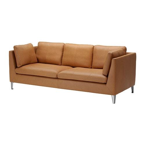STOCKHOLM 3:n istuttava sohva IKEA Erittäin kestävää ja pehmeää aniliininahkaa, jossa on luonnollinen ilme ja tuntu.
