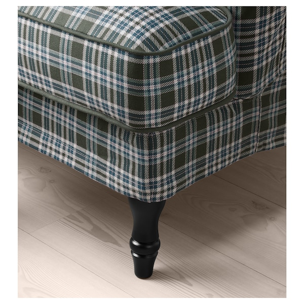 STOCKSUND 2:n istuttava sohva, Segersta monivärinen/musta/puu