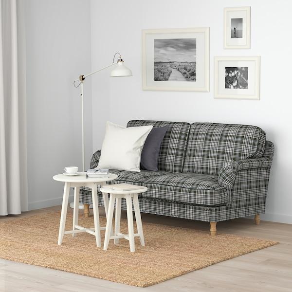 STOCKSUND 2:n istuttava sohva Segersta monivärinen/vaaleanruskea/puu 84 cm 73 cm 154 cm 97 cm 13 cm 122 cm 58 cm 46 cm