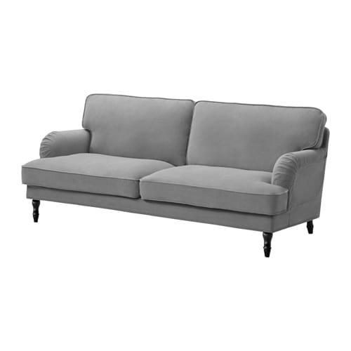 STOCKSUND 3:n istuttava sohva - Ljungen harmaa, musta - IKEA