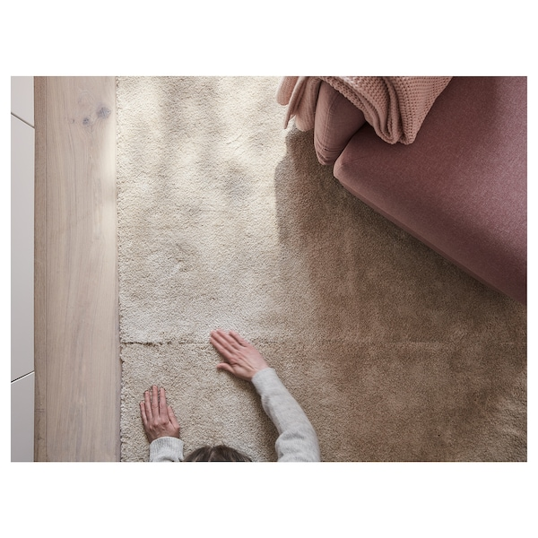 STOENSE Matto, matala nukka, luonnonvalkoinen, 200x300 cm