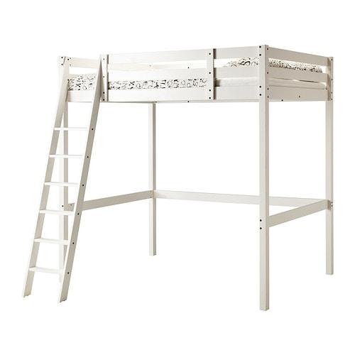 STORÅ Parvisänky , valkoiseksi petsattu Pituus: 213 cm Lattian+sängyn pohj väl etäis: 167 cm Leveys: 153 cm Korkeus: 214 cm Patjan pituus: 200 cm Patjan leveys: 140 cm