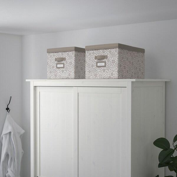 STORSTABBE kannellinen laatikko beige 35 cm 50 cm 30 cm