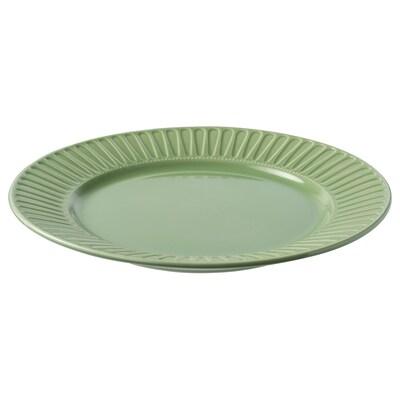 STRIMMIG lautanen kivitavaraa/vihreä 27 cm