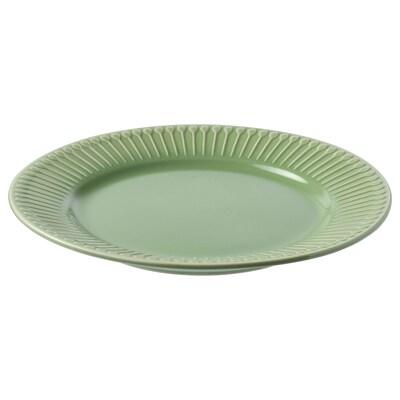 STRIMMIG leipälautanen kivitavaraa/vihreä 21 cm