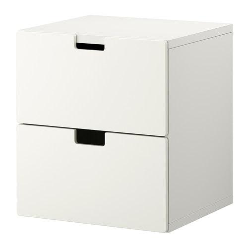 STUVA Lipasto, 2 laatikkoa  valkoinen  IKEA