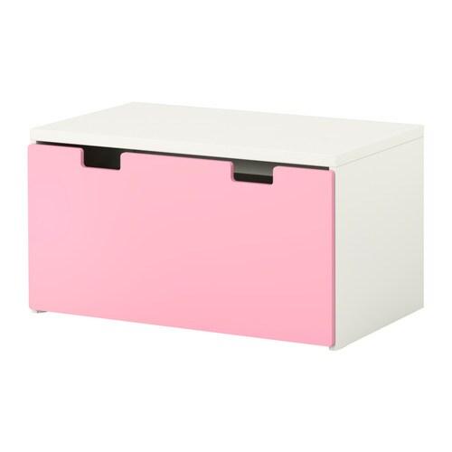 STUVA Säilytyspenkki  valkoinen roosa  IKEA