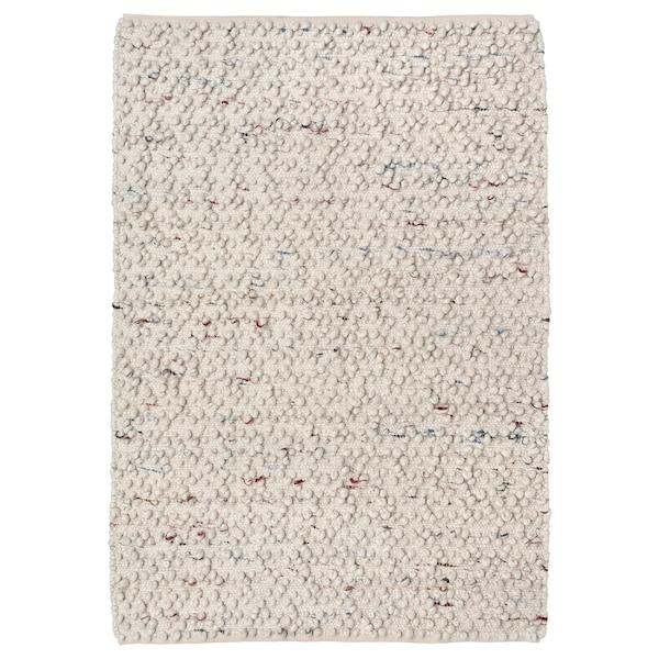 SVÄRDBORG Matto, kudottu, käsin tehty luonnonvalkoinen/monivärinen, 133x195 cm