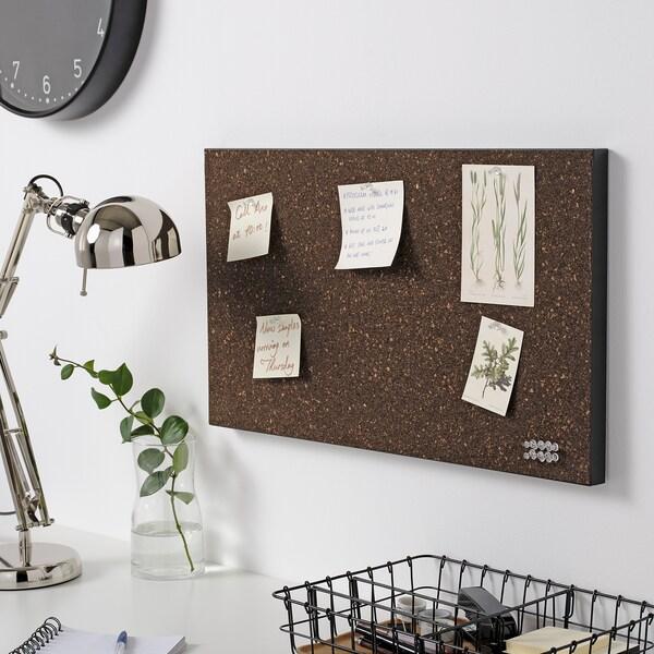 SVENSÅS muistitaulu + nuppineulat korkki tummanruskea 60 cm 35 cm