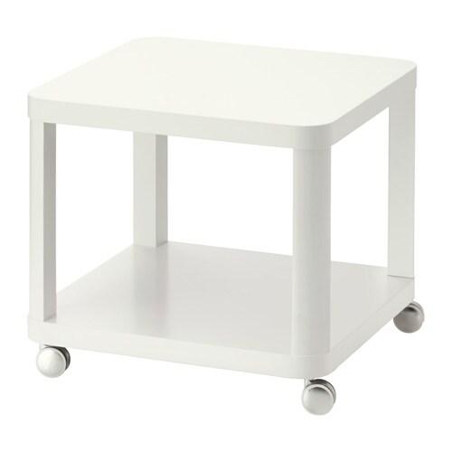TINGBY Apupöytä + pyörät  valkoinen  IKEA