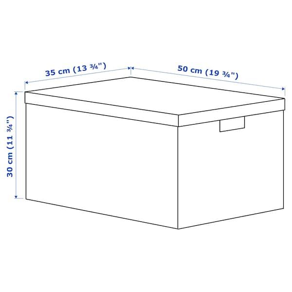 TJENA Kannellinen säilytyslaatikko, musta, 35x50x30 cm