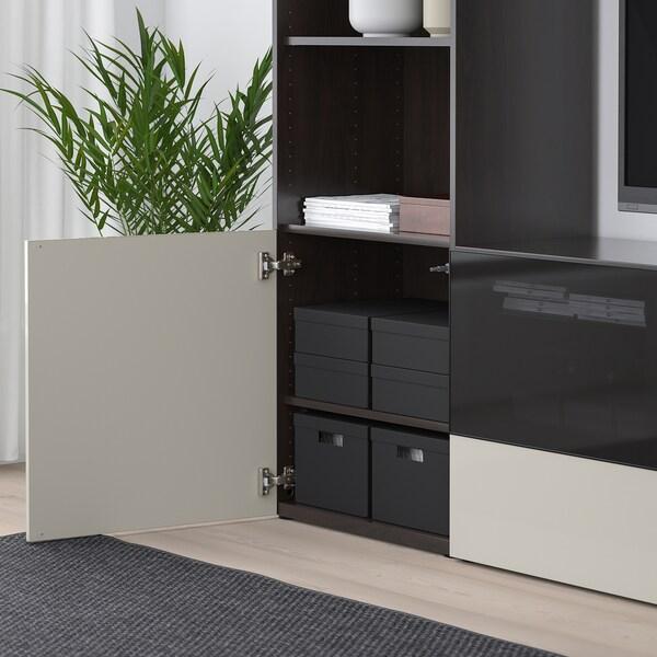 TJENA Kannellinen säilytyslaatikko, musta, 25x35x10 cm