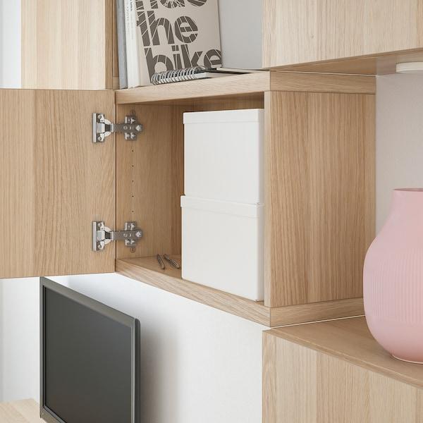 TJENA Kannellinen säilytyslaatikko, valkoinen, 18x25x15 cm