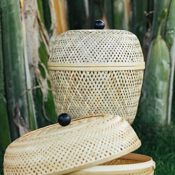 TJILLEVIPS kori bambu 28 cm 25 cm