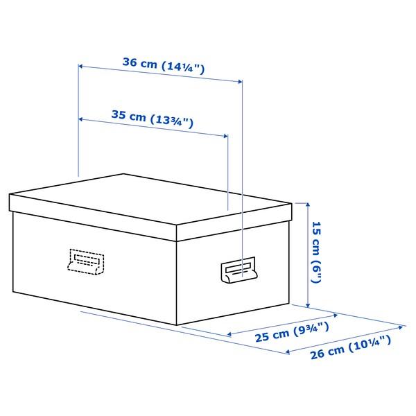 TJOG Kannellinen säilytyslaatikko, tummanharmaa, 25x36x15 cm