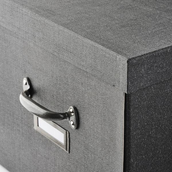 TJOG Kannellinen säilytyslaatikko, tummanharmaa, 35x56x30 cm