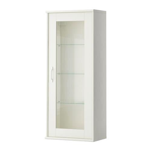 TOCKARP Seinäkaappi + vitriiniovi  valkoinen  IKEA