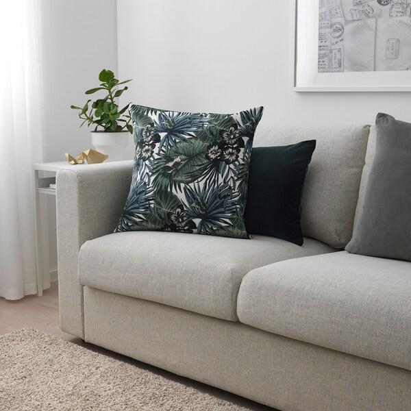 TORGERD Kangas, valkoinen/vihreä, 150 cm