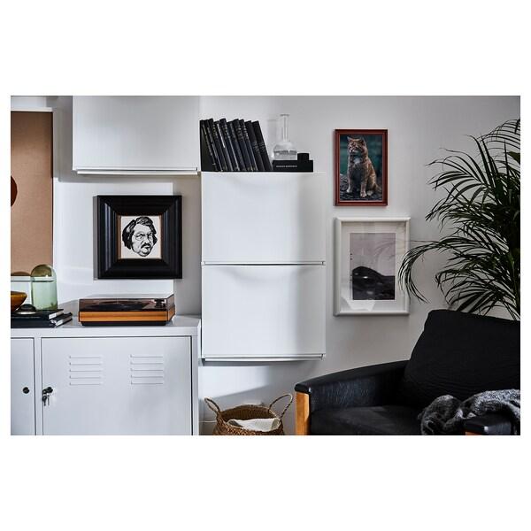TRONES Kenkä-/säilytyskaappi, valkoinen, 52x18x39 cm