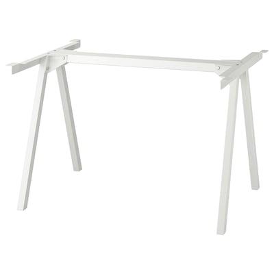 TROTTEN Jalusta pöytälevyyn, valkoinen, 120x70x75 cm