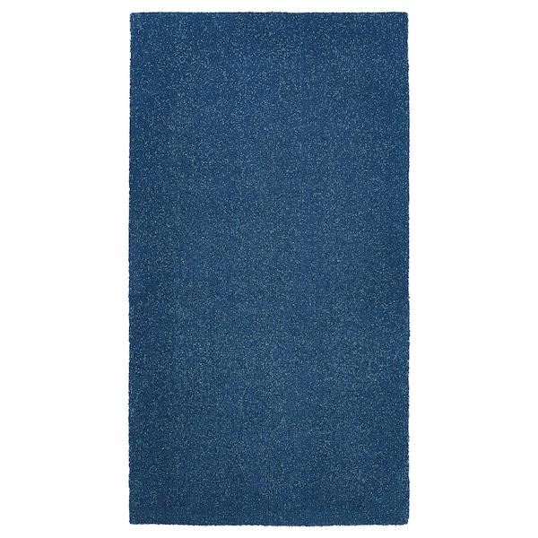 TYVELSE Matto, matala nukka, tummansininen, 80x150 cm