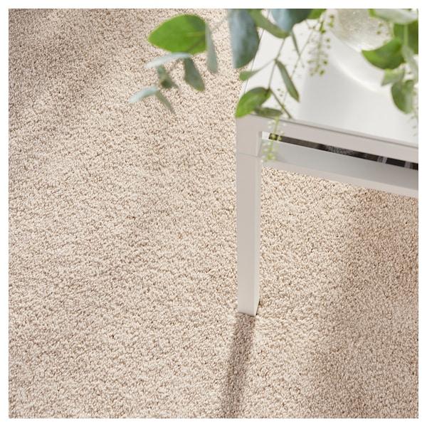TYVELSE matto, matala nukka luonnonvalkoinen 300 cm 200 cm 14 mm 6.00 m² 3000 g/m² 1880 g/m² 13 mm