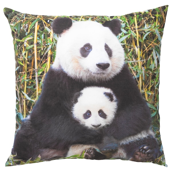 URSKOG Koristetyyny, Panda monivärinen, 50x50 cm