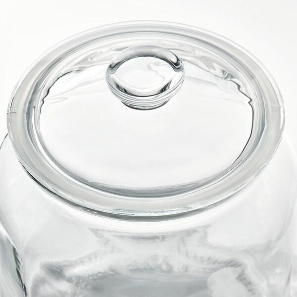 VARDAGEN Kannellinen purkki, kirkas lasi, 1.9 l
