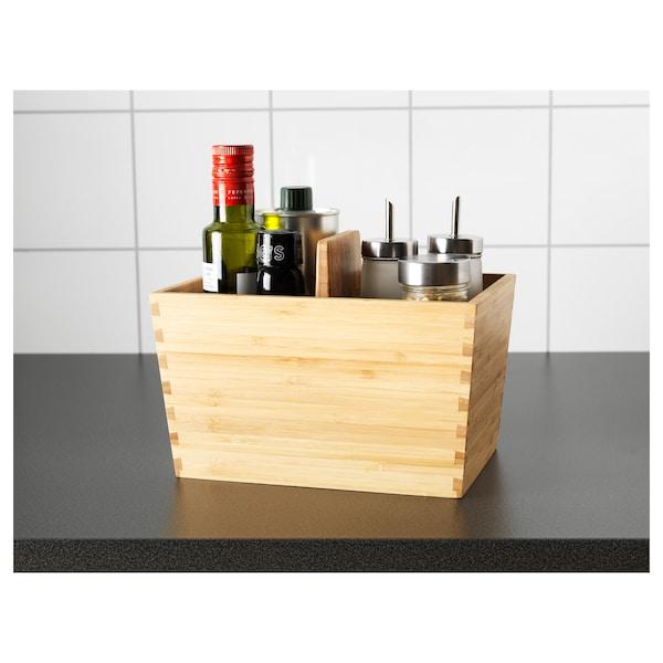 VARIERA kädensijallinen laatikko bambu 24 cm 17 cm 16 cm
