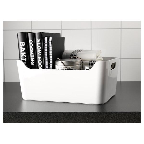 VARIERA laatikko valkoinen 33.5 cm 24 cm 14.5 cm