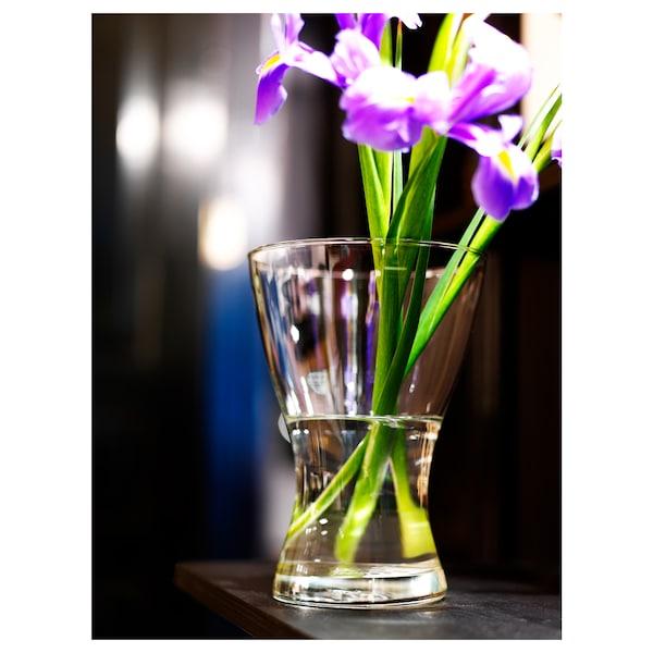 VASEN Maljakko, kirkas lasi, 20 cm