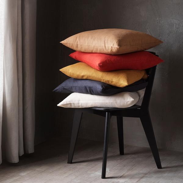VIGDIS Tyynynpäällinen, mustanharmaa, 50x50 cm