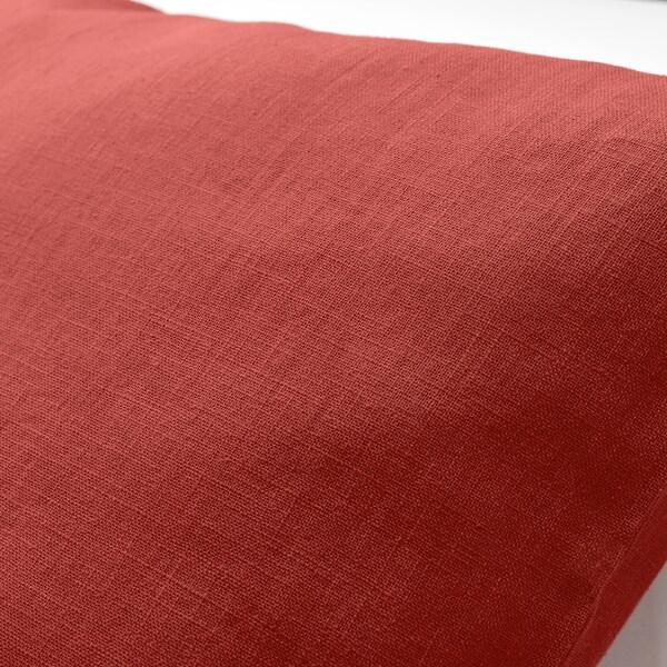 VIGDIS Tyynynpäällinen, punaoranssi, 50x50 cm