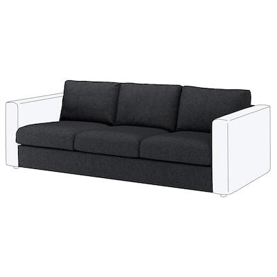 VIMLE 3:n istuttava sohva Tallmyra musta/harmaa 80 cm 66 cm 211 cm 98 cm 4 cm 211 cm 55 cm 45 cm