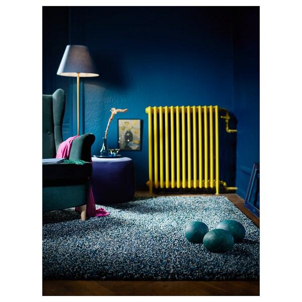 VINDUM Matto, korkea nukka, sinivihreä, 200x270 cm