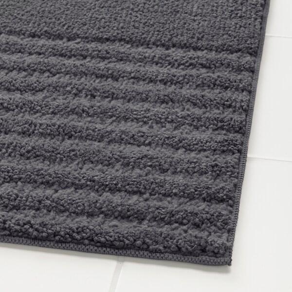 VINNFAR kylpyhuoneenmatto tummanharmaa 60 cm 40 cm 0.24 m² 1310 g/m²